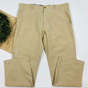 Banaba Republic Relaxed Fit Linen Blend Khaki Pant